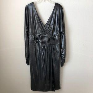 Tadashi Collection Dark Metallic Gray Dress